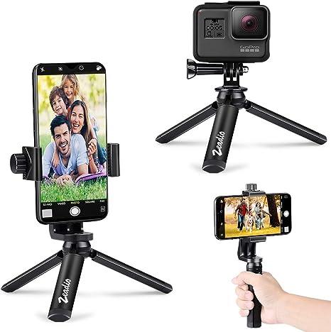zeadio Trípode de Metal para Smartphone con Bluetooth, cámara de ...