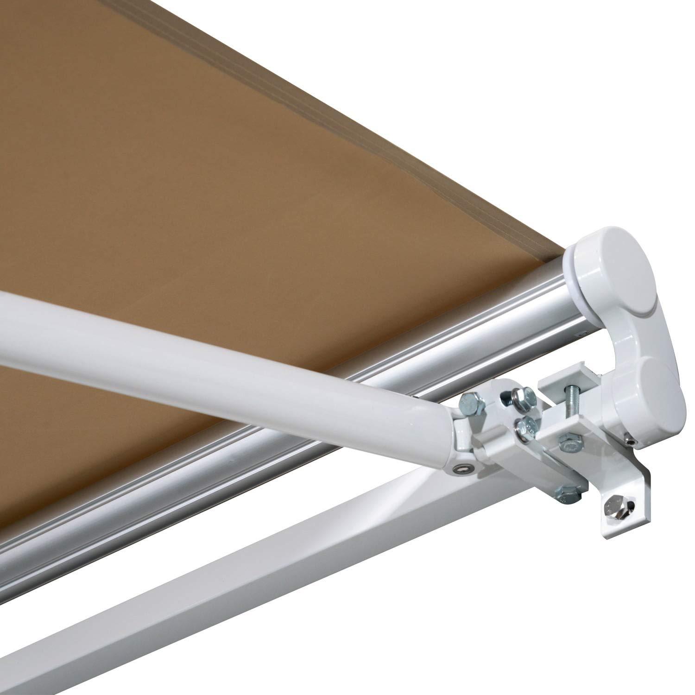 miozzi Tenda da Sole Avvolgibile 3.65x2.5m in Poliestere e Alluminio Beige