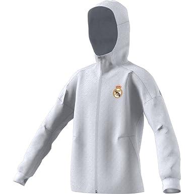 adidas Anth Zne Y Chaqueta Línea Real Madrid CF, Niños ...