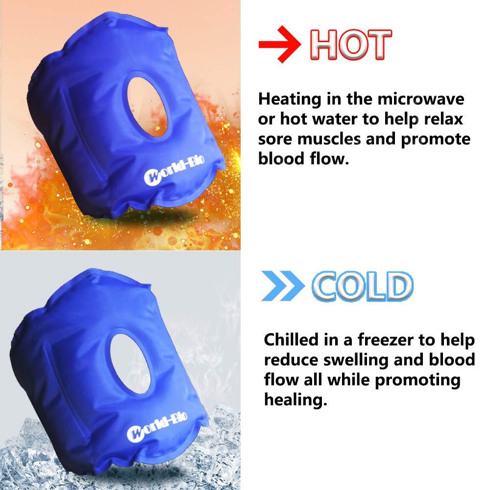 Rodilla Paquete Gel Hielo Reutilizable Para alivio rápido del dolor, Bolsa de Gel para Aplicar Frío y Calor Con Banda de Compresión Para Lesiones en la ...