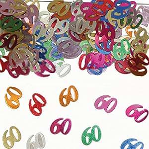 15 g de 60a confeti Mesa de cumpleaños Decoración Aniversario