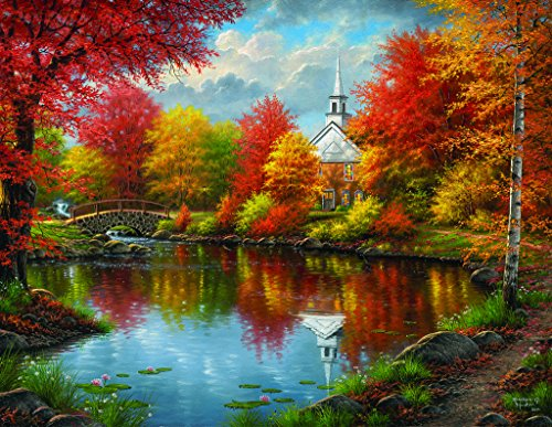 SunsOut Autumn Tranquility 1000+ pc Large Piece Jigsaw Puzzle