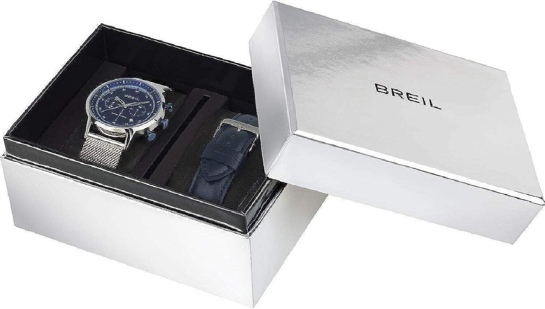 Reloj Breil Hombre Six.3.Nine Esfera Monocolor Azul Movimiento Chrono Cuarzo y Mesh Piel Azul TW1863