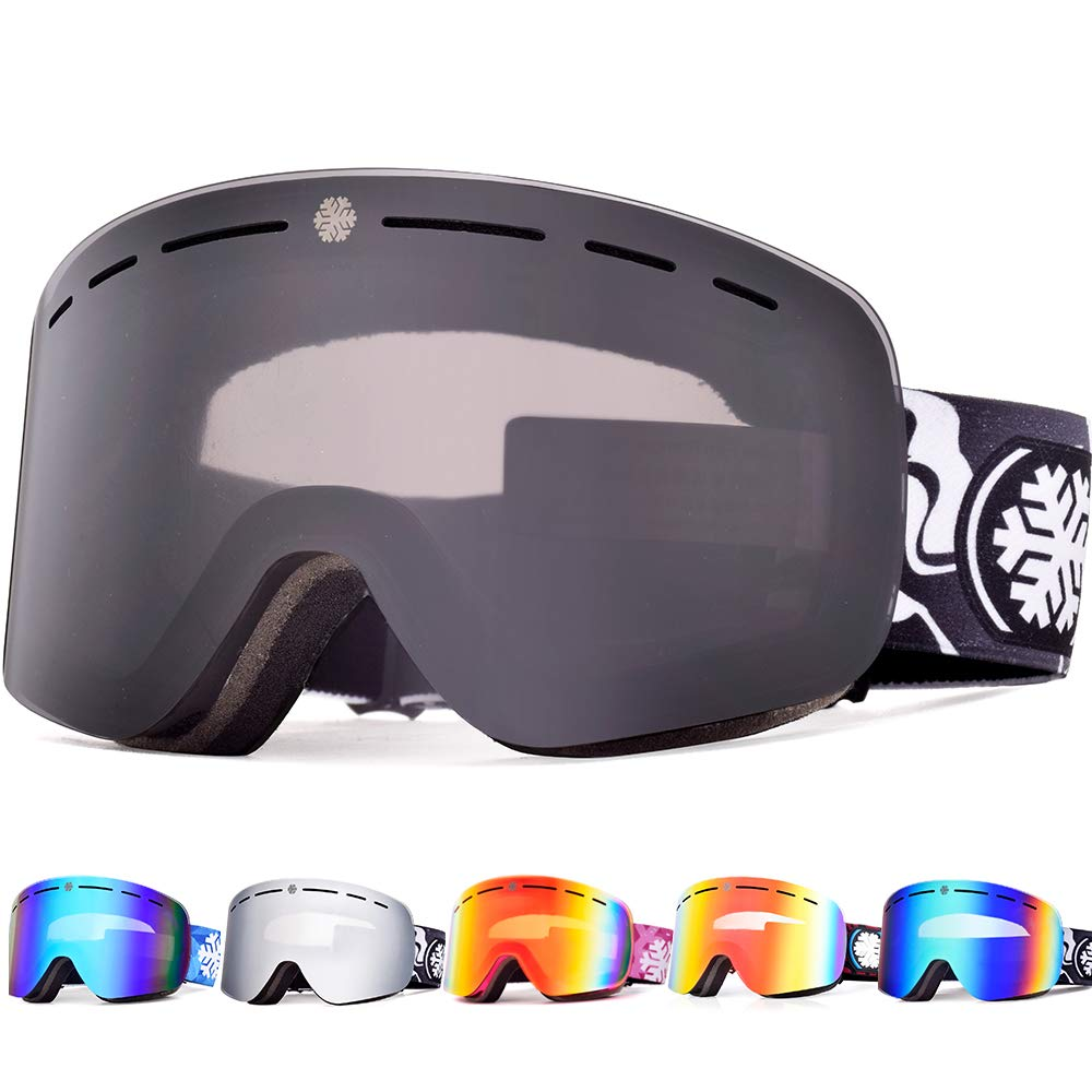78d83dadd023 Snowledge Ski Goggles with Frameless Interchangeable Lens