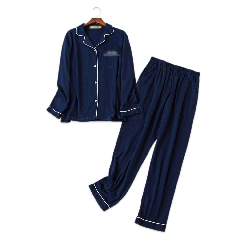 Pure Color Simple Sleepwear Men Pajamas Sets 100/% Cotton Winter Long-Sleeve Pyjamas Daily Wear Male Pijamas Hombre Pyjamas