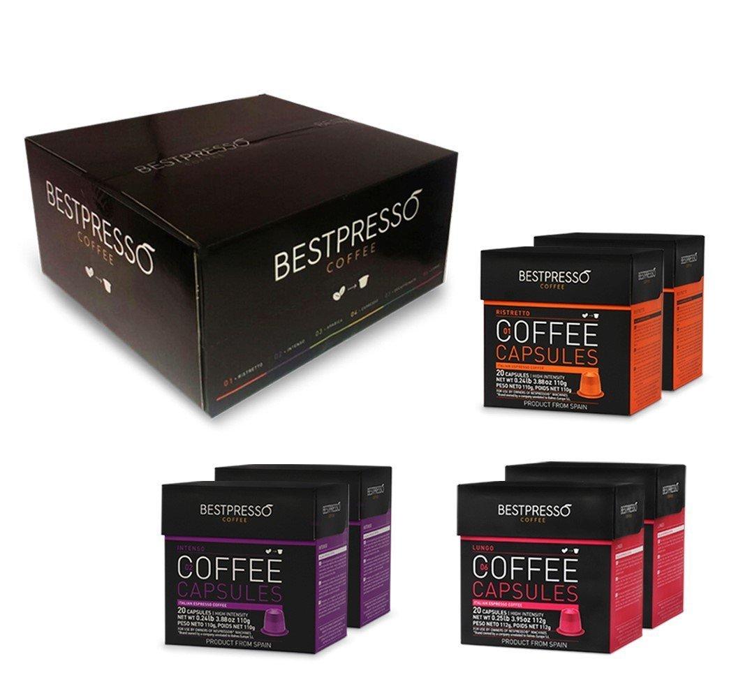 120 bestpresso nespresso compatible gourmet coffee. Black Bedroom Furniture Sets. Home Design Ideas
