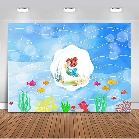 Mehofoto - Fondo de Sirena de 7 x 1,5 m bajo el Mar para Acuario de Sirena o pecera ...