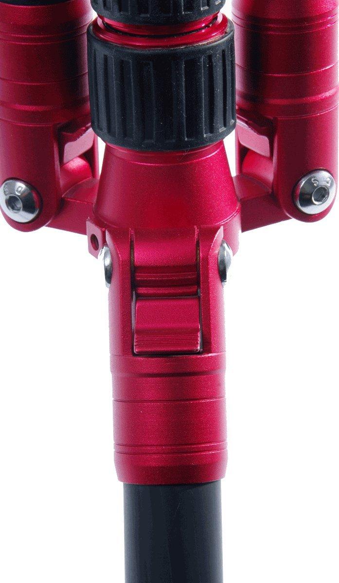 TERRA FIRMA TRIPODS T-CF500-BH200 Carbon Fiber 5 Section Tripod Leg Set with Ball Head BH200, Black/Red by TERRA FIRMA TRIPODS (Image #6)