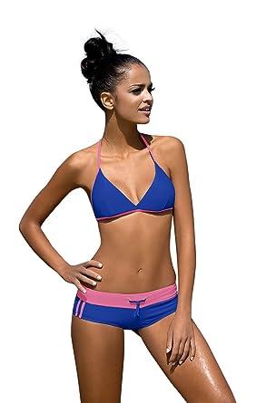 Mujeres Deporte Traje De Baño Dos Piezas Conjunto de Bikini Sets ...