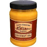 Amish Country Popcorn | 30 Ounce Coconut Oil | Vegan, Tree Nut and Peanut Free (30oz Jar)