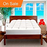 Pillow-Top Premium Mattress Pad - 1.5 Inch Cooling Down Alternative Polygel Filled Microplush Super-Soft Hypoallergenic Topper (Full XL)