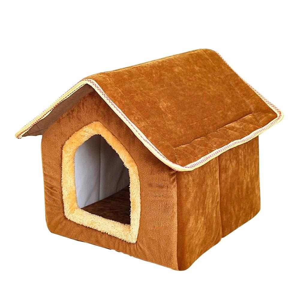 A S.32x35x34m A S.32x35x34m Pet Mat Nest, Bed, Four Seasons Universal Removable Teddy Bichon Small Dog House Pet Supplies Cat Nest Villa (color   A, Size   S.32x35x34m)