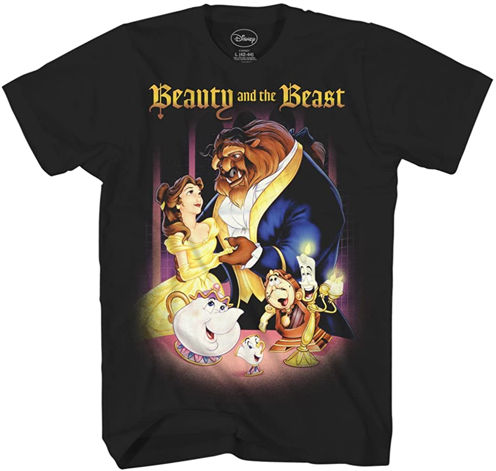 Disney Beauty and The Beast Belle Adult Mens Tee Graphic T-Shirt Apparel Black