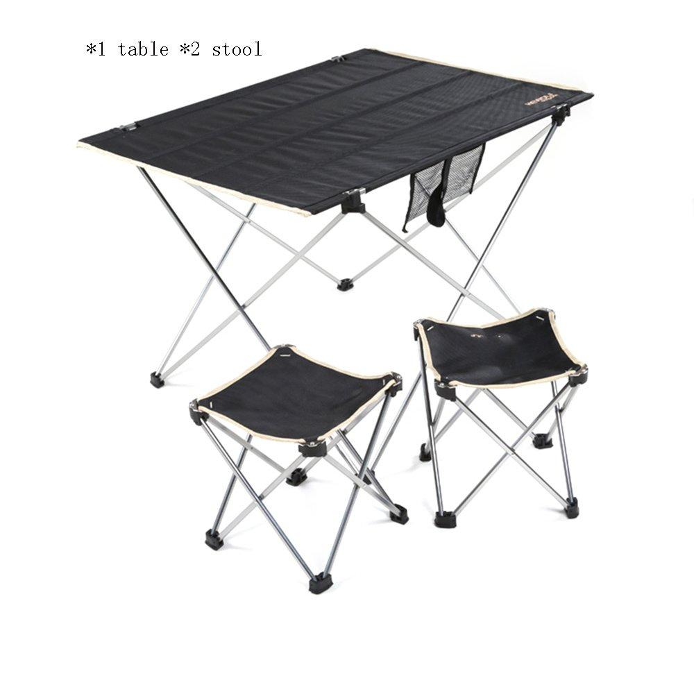 ZZHF 折りたたみテーブル超軽量アルミのテーブルとチェアは、ポータブルコンビネーションテーブルと椅子を設定します。 デスク ( 色 : B ) B07CFWLGP3 B B