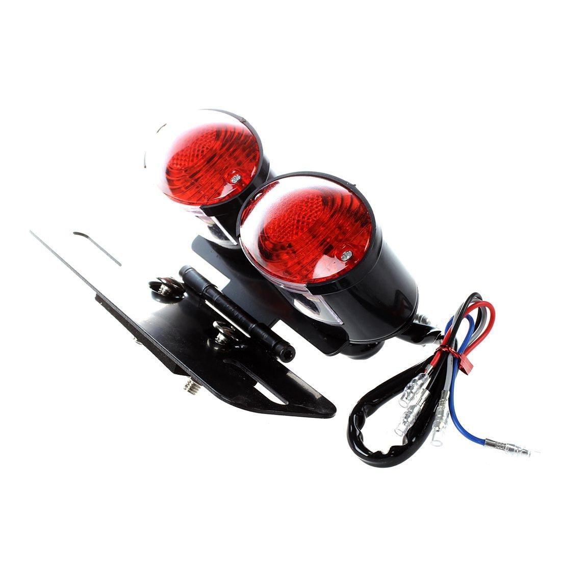 R TOOGOO 34 LED lampeggiante fanale di sicurezza luce posteriore universale Moto Bianco