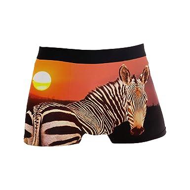 Tiger Men/'s Boxer Briefs Black Animal Underwear Stretchable S-XL