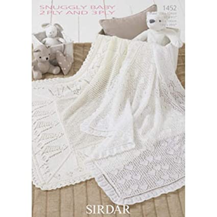 9f152043b Sirdar Baby 2 Ply and 3 Ply Shawls Knitting Pattern 1452 by Sirdar ...