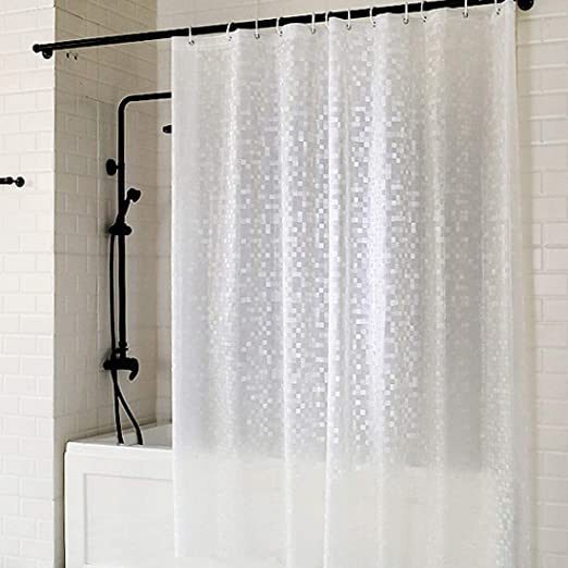PEVA Bath for Home//Hotel,... UFRIDAY Clear Shower Curtain Liner 72 x 75 inch