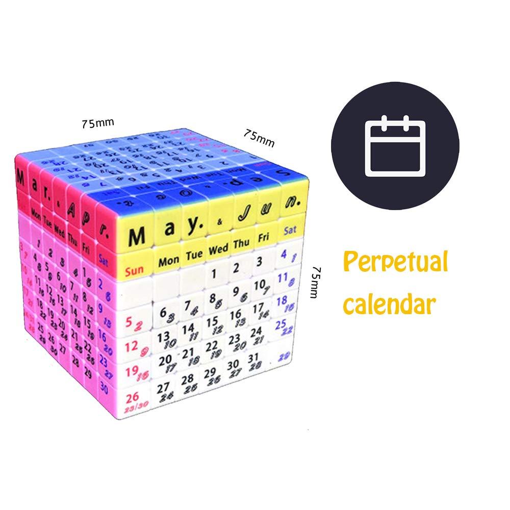 7 Smooth Digital Speed Child Intelligence Development Cubo Learning Cubo Calendario perpetuo XWDQ Cubo di Rubik Multi-Order 7