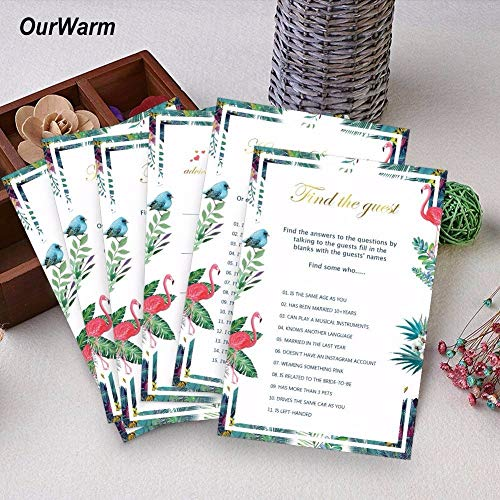 Invitations Invitation 3Types 150Pcs Wedding Invitations Cards Bridal Shower Decoration Creative Ideas for Flamingo Funny Games Party Supplies
