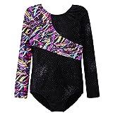 Long Sleeve Gymnastics Leotards for Girls Black Unitards Sparkles 3T 4T