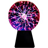 Lebbeen Glass Plasma Ball Sphere Lightning Light Lamp Party magical ball electrostatic falshing ball (4.0 Inches)