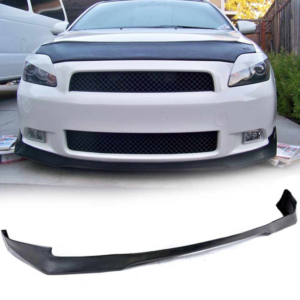Front Bumper Lip Fits 2005-2010 SCION TC | EVO PU Black Front Lip Spoiler Splitter Air Dam Chin Diffuser Add On by IKON MOTORSPORTS | 2006 2007 2008 2009