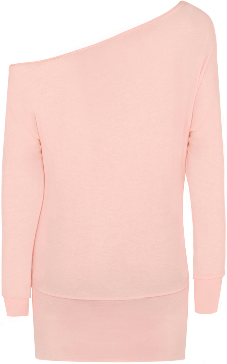 WearAll Women's Off-Shoulder Batwing Top - Pink - US 8-10 (UK 12-14) by WearAll (Image #2)