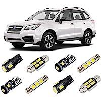 BRISHINE White Interior LED Lights Kit for Subaru Forester 2014 2015 2016 2017 2018 2019 Super Bright 6000K LED Interior…