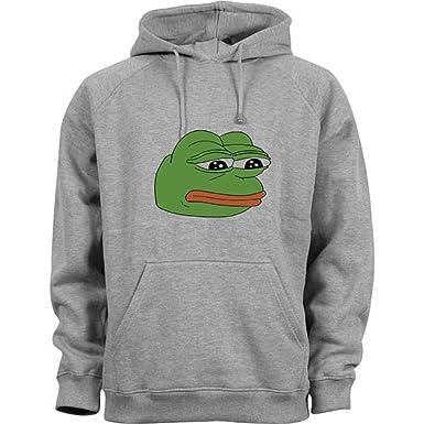 Nothingtowear Pepe Sad Frog Funny Meme Kapuzenpullover Grau Amazon
