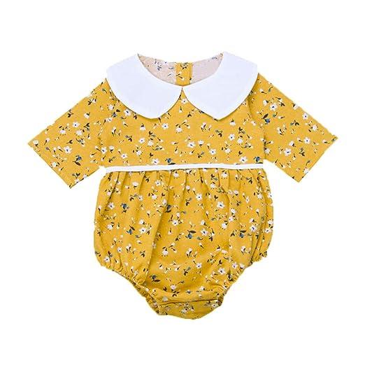 716c9e4d4fc Infant Baby Girl Jumpsuit Bodysuit Half Sleeve Floral Print Romper  One-Pieces Summer Outfits Set