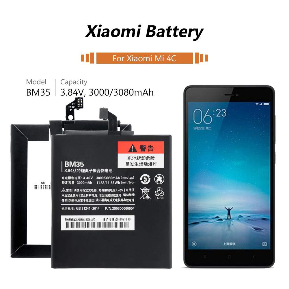 Amazon.com: YCDC Batería de gran capacidad de 3080 mAh BM35 ...