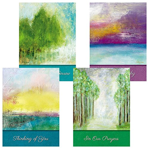 Soothing Serenity Sympathy Greeting Cards - Set of 8 (2 of each)
