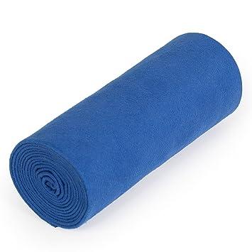 Mikrofaser Handtuch Blau 50x100cm Sporthandtuch Badetuch Mikrofasertuch Sport