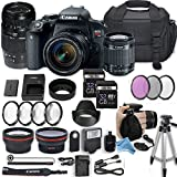 Canon EOS Rebel T7i 24.2 MP DSLR Camera with Canon EF-S 18-55mm f/4-5.6 IS STM Lens + 70-300mm f/4-5.6 Di LD Lens + 2 Memory Cards + 2 Aux Lenses + DigitalAndMore Free Accessories Bundle (24 Items)