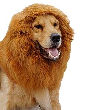 Xiondom - Peluca grande para mascota, diseño de león para perro, Navidad, Halloween