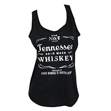 ea19d68c5d137f Amazon.com  Jack Daniels Tennessee Whiskey Ladies Tank Top  Clothing