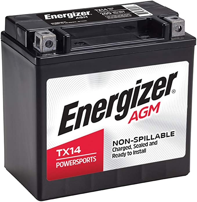 Replaces 120 Cold Cranking Amps and 8 Ahr Energizer TX9 Black AGM Motorcycle and ATV 12V Battery YTX9-BS and others