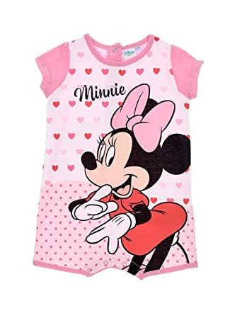 Minnie Barboteuse bébé Fille Disney Rose de 6 à 24mois  Amazon.fr  Vêtements  et accessoires 76e2ce26090
