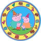8-Pieces Peppa Pig Dessert Plate, 7-Inch, Multicolor