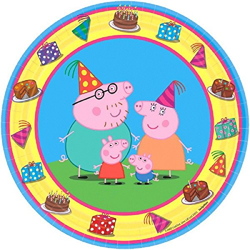 American Greetings Peppa Pig Paper Dessert Plates, 8-Count ()