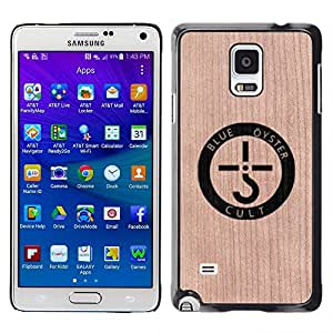 - / Band Oyster Music Art Logo - - Funda Delgada Cubierta Case Cover de Madera / FOR Samsung Galaxy Note 4 SM-N910 N910 / Jordan Colourful Shop/