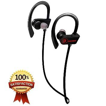 DAMIGRAM Auriculares Inalámbricos, Bluetooth Deportivos 4.1 In-Ear Cascos Deportivos Inalámbricos con Micrófono y Cancelación de Ruido y Impermeables IPX7 ...