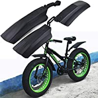 Mud Protection Cycling Fender Kit Front and Rear Fender Set for Fat Tire Bike or Electric Bikes Voltech Bikes Metal Fender
