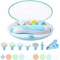 Lima de Uñas Bebe Cortaúñas Eléctrico Pulidor de Uñas Bebé Corta Uñas Cortaúñas Versátiles (Azul)