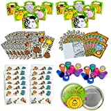 Safari Zoo Animal Party Favors 120 Piece Set Includes Treat Boxes and Enough Party Favors Birthday Bundle for 12 Kids Jungle Animal Party Supplies Pack