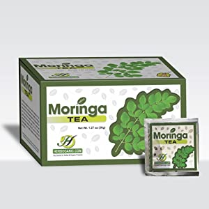 Moringa Herbal Tea Pure Olifera 20 tea bags.