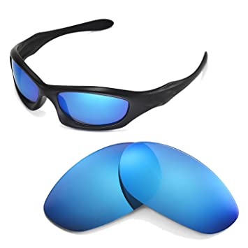 Walleva Ersatzgläser für Oakley Monster Dog Sonnenbrille - Mehrfache  Optionen (Eisblau)