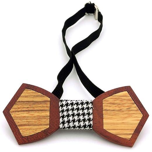 La corbata de madera de la boda se puede ajustar 3D Pajarita de ...
