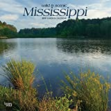 Mississippi, Wild & Scenic 2019 12 x 12 Inch Monthly Square Wall Calendar, USA United States of America Southeast State Nature